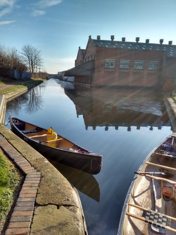 Ice breaking on the Birmingham Canals