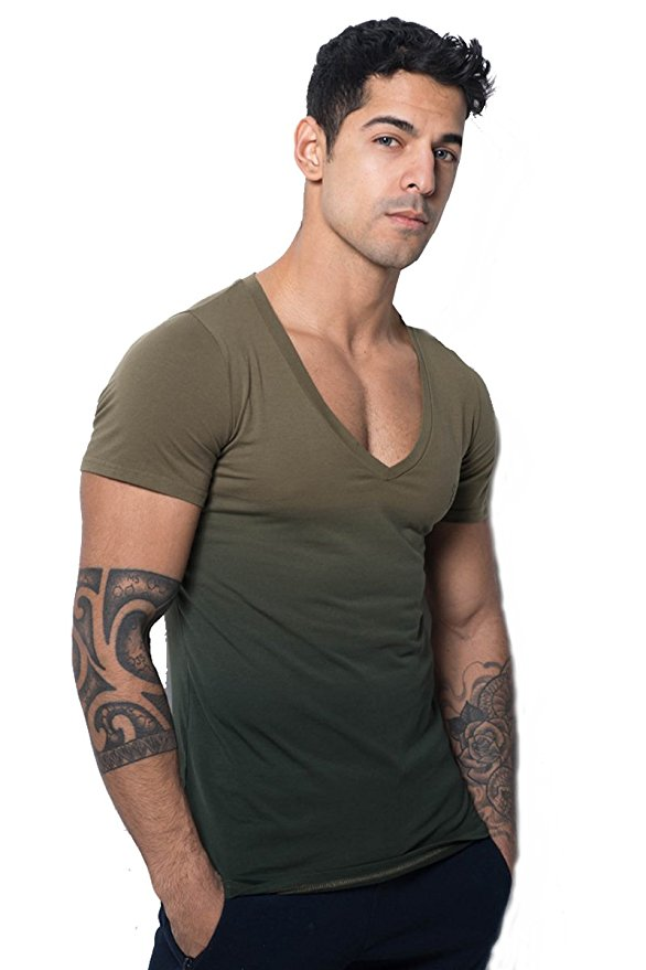 Mens V-Neck Slim Fit Tee By Jed North - Pectease - The Man Cleavage Blog  When A -5263