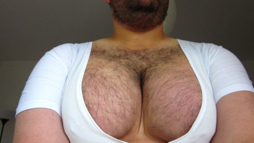 Knutson plunging scooped neckline big hairy moobs