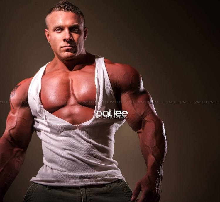 Brad Rowe pec cleavage ripped tank top