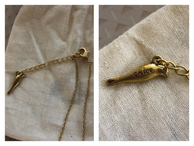 necklace bird