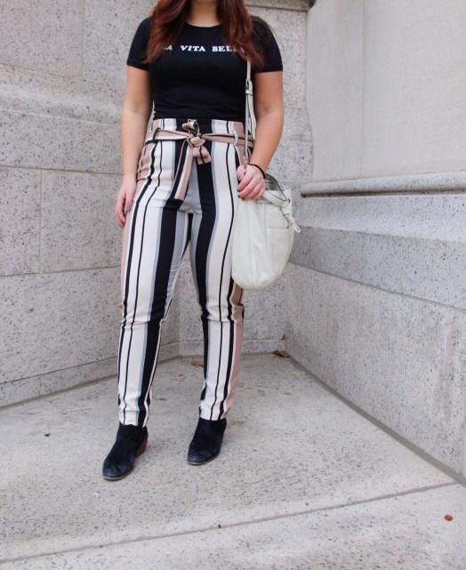 Bow Tie Stripe Pants