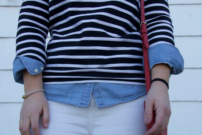 Chambray Top Three Different Ways