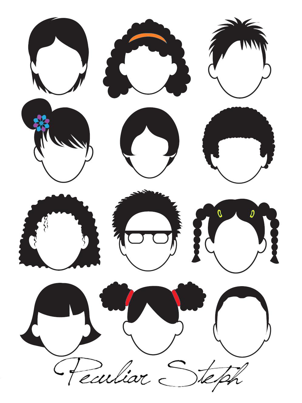 Pagina en blanco, dibujo de caras (para imprimir gratis)