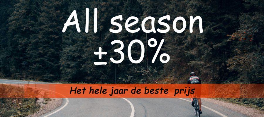 All season - het hele jaar de beste prijs