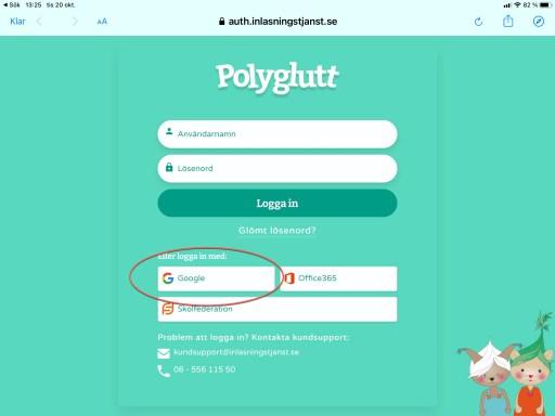 Logga in på Polyglutt