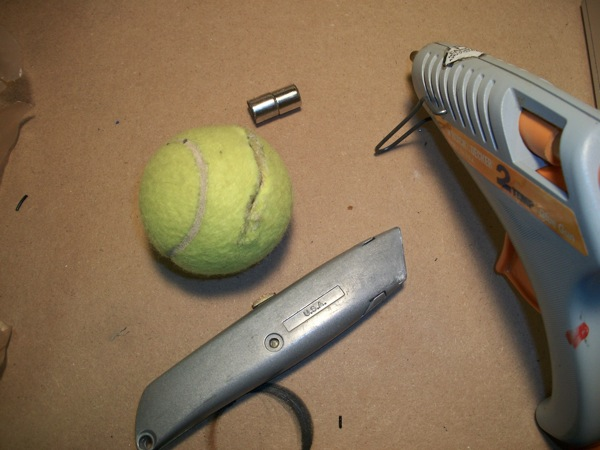 tennis ball demo materials