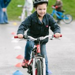 Reception Children from St Marks School learning to ride their bikes.