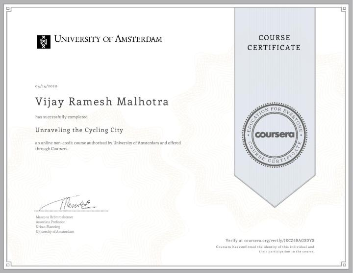 Coursera _Unraveling the cycling city