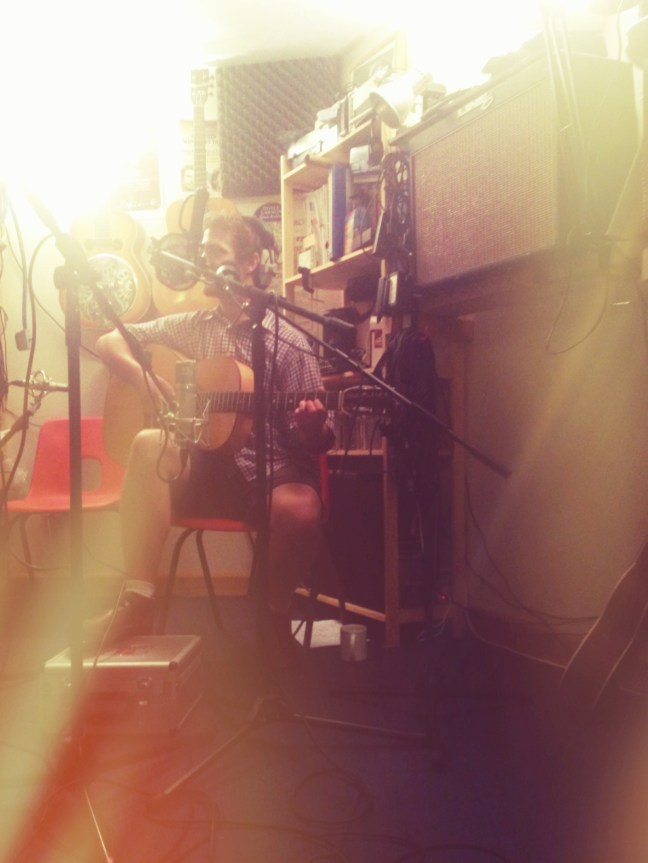 Tim in the recording booth