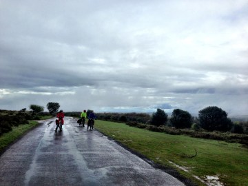 The view from the top of the Quantocks (no view due to rain) end of tour 3