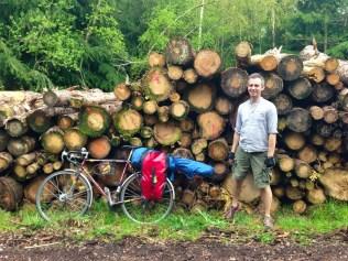 Robin Grey and his bike, tour 3