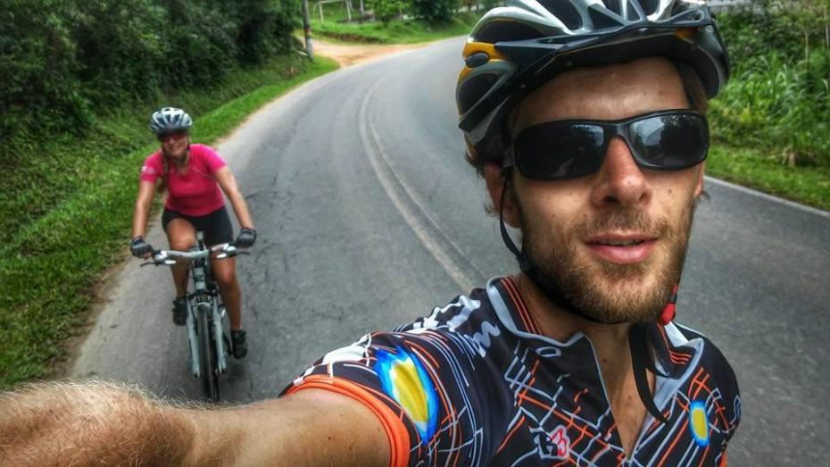 Super atletas de MTB / bike anjos /cicloviajantes Geovane e Thaís