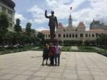 Danny, me, Sang, and Chad at the Ho Chi Minh City Hall