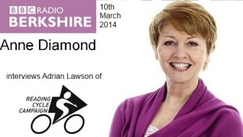 Click to listen to the interview of Adrian Lawson of Reading Cycle Campaign on BBC Radio Berkshire.