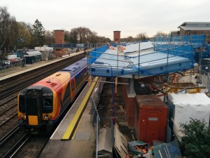 The new station is coming along, as is the new bridge - but where will there be cycle parking?