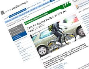 Parliament.uk Transport Committee Cycling Report 2014-07-18