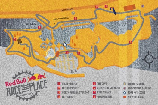 Red Bull Race the Place 2015 Course Map [P] Red Bull