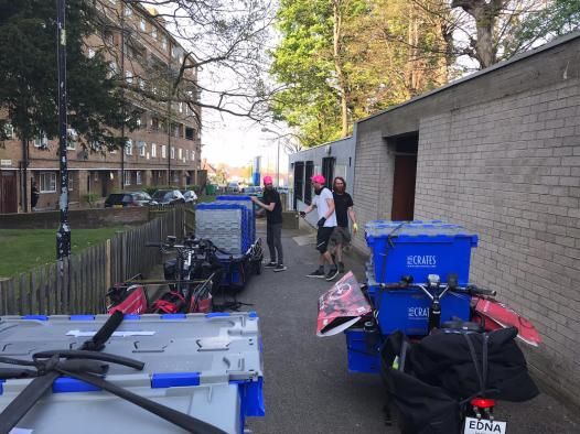 Sub-hub at Fern Lodge to re-stock riders in South Lambeth