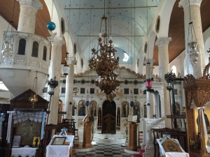 Inside the Greek Orthodox Church in Ambelakia
