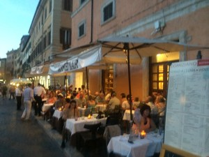 Dinner at Piazza Navona