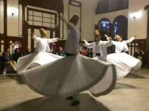 Enjoying a whirling dervish ceremony and meditation