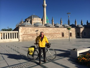 Arriving at Rumi's Tomb inTurkey after a seven-week cycling pilgrimage