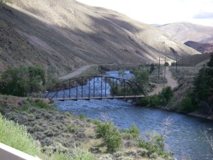 Bridge crossing the Salmon River, Idaho, 2011