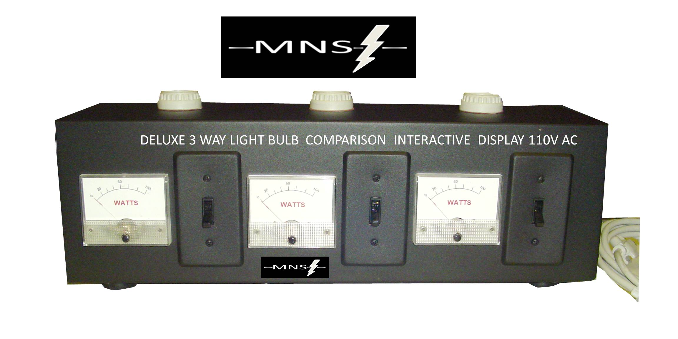 3 way displays ford f 150 radio wiring diagram interactive light box display bulbs 110vac pedal power