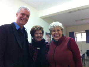 Jonathan and Minga with Jean Zaru, clerk of Ramallah Friends Meeting