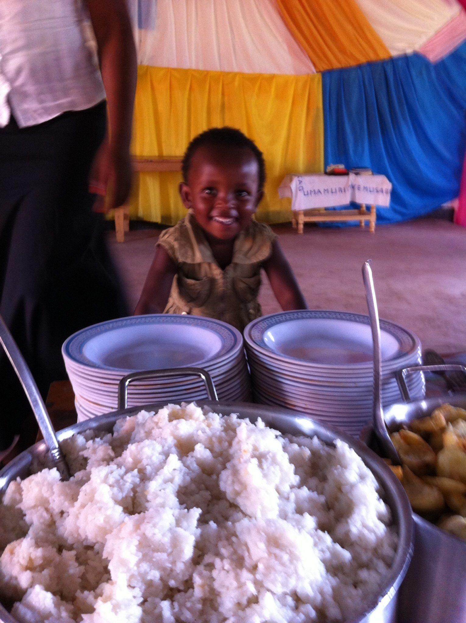 Serving food after service