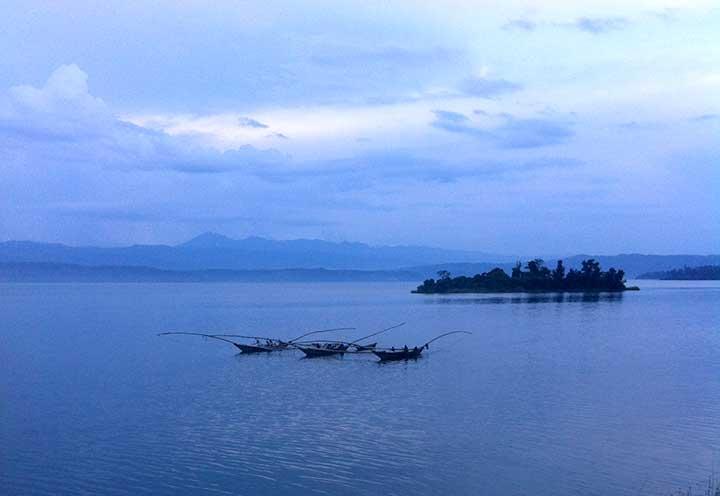 Boats on Lake Kivu