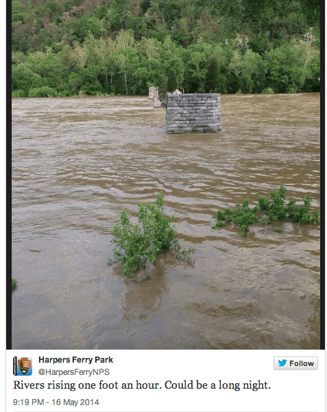 harpers ferry flood tweet