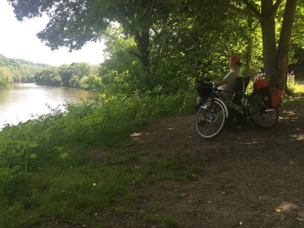bicycle touring the GAP Yogh river