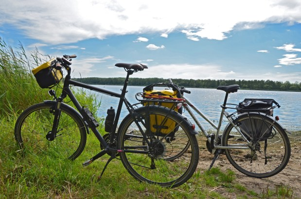 Hot weather bike touring