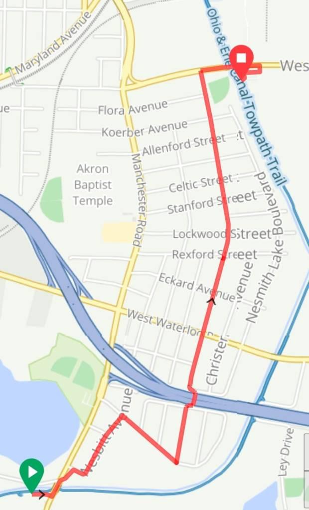 south of Akron detour