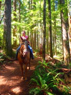 Some friendly folks on horseback.