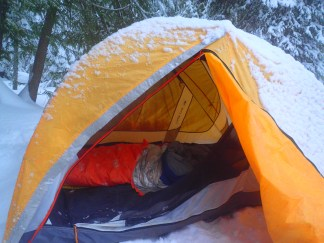 The luxuries of car camping include using a 'massive' 2 person tent. I felt like I was in a tent mansion!