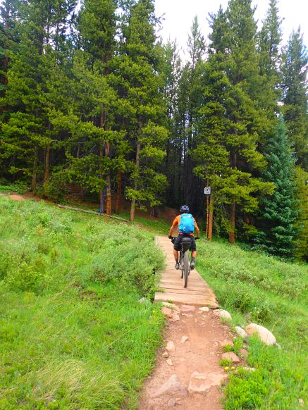 Great singletrack along the Copper Mountain Resort section.