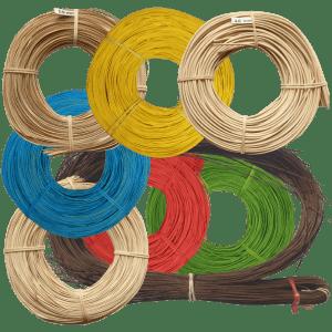 Peddigrohr Flechtmaterial Sortiment natur, farbig & geräuchert braun