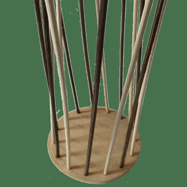 Peddig Staken Anwendung Beispiel mit Korbflechtboden