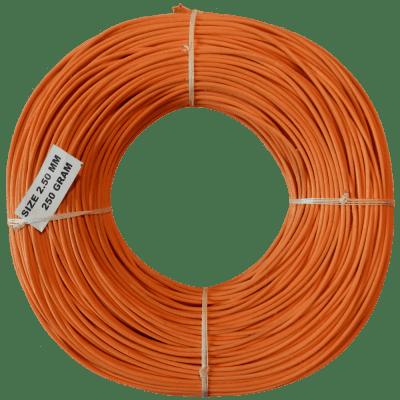 Peddigrohr Flechtmaterial Orange 250g Rolle