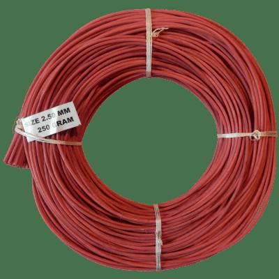Peddigrohr Flechtmaterial rot 250g Rolle