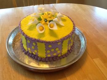 Pedestal Custom Summer Blossom Cake