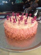Pedestal Custom Sweet Sixteen Cake