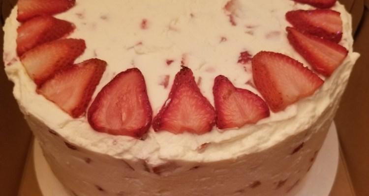 Strawberry Cheer Cake