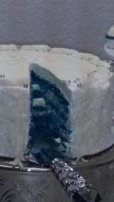 Blue Coconut Bomb Cake