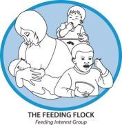 feeding flock