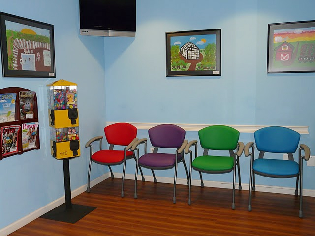 Dr Banji DDS Affordable And Colorful Waiting Room