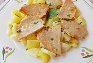 Patatas en Salsa con Lomo de la Orza